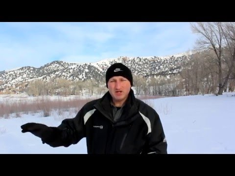 Ice Fishing Echo With The HawkEye Portable Fish Finder