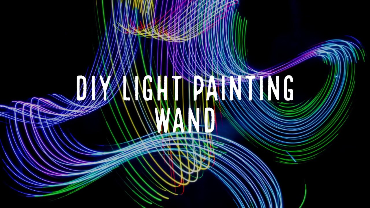 Creating a light wand for dramatic portraits