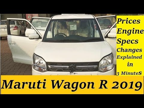 Maruti Wagon R 2019 Explained in 3 Minutes. First Looks, Changes, Prices, Features