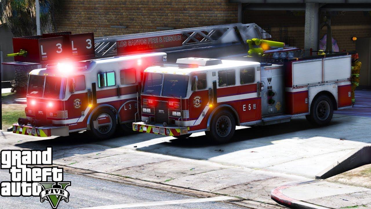 GTA 5 Firefighter Mod 58 | New Los Santos Fire & Rescue ...