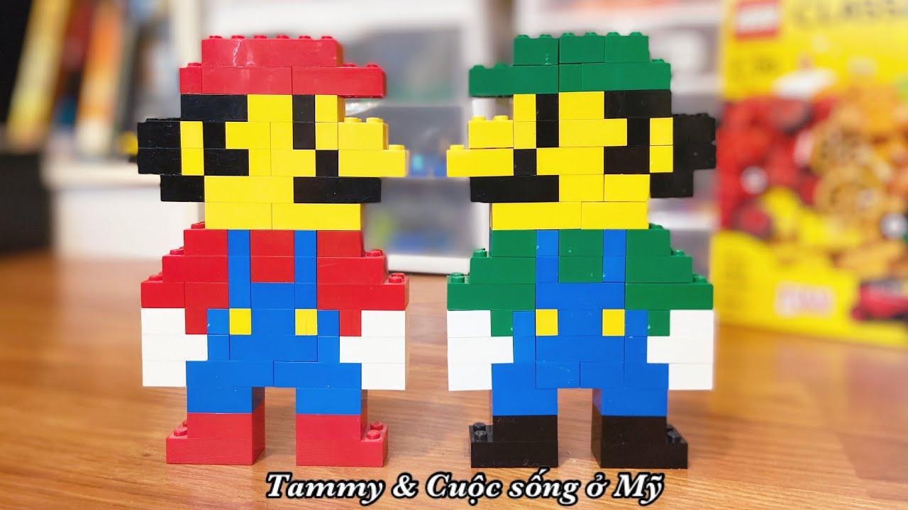 Lắp Ráp LEGO ở Mỹ: LEGO MARIO & LEGO LUIGI - Cách Lắp Ghép Lego Super Mario & Luigi