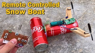How to Make a Snow Boat using Coca-Cola Bottles (Very Fast)