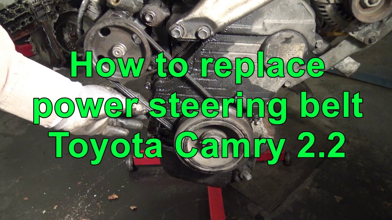hight resolution of how to replace power steering belt toyota camry 2 2 5f se engine