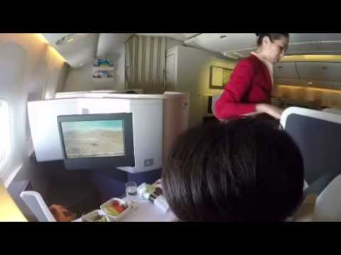 Cathay Pacific PEK-HKG Boeing 777-300 business class