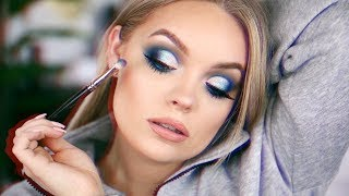 SNOW DAY SLAY NAVY BLUE MAKEUP TUTORIAL Video