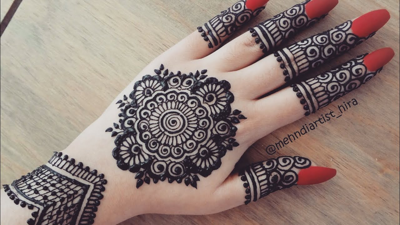 Beautiful latest simple easy trendy mandala gol tikki henna mehndi designs  for hands eid,weddings