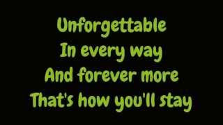 Nat King Cole - Unforgettable (Lyrics HD)