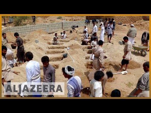 🇾🇪 Funerals held for children killed in school bus attack | Al Jazeera English