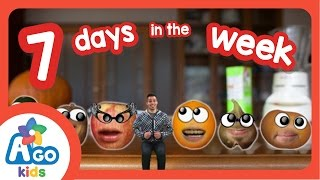 7 days in a week days of the week   kids songs   ago kids esl efl