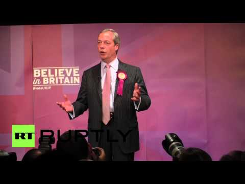 UK: Farage quotes Ghandi as general election looms