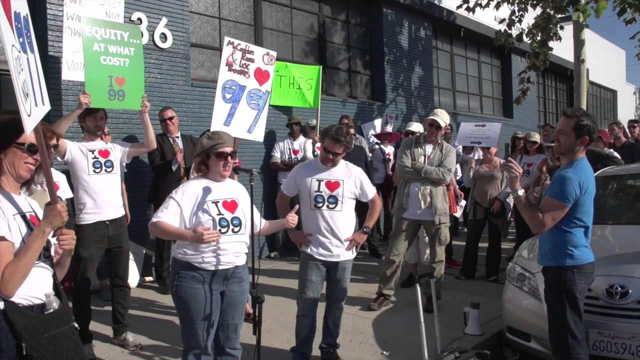 Wake Up Actors Equity LA - NoHo Demonstration