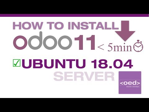 ⬇️ How to Install Odoo 11 Download Ubuntu 18.04 LTS and Server 2018