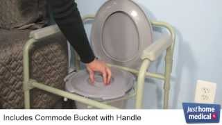 Just Home Medical: Drive Folding Steel Bedside Commode
