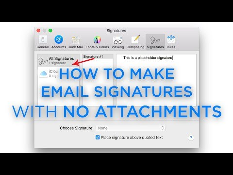 How To Make An Email Signature With A Logo In Apple Mail With No Attachments