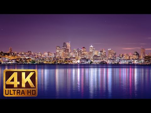 Wonderful Views of Seattle's Downtown in 4K - City Sounds White Noise - 2 Hours
