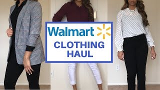 WALMART Clothing Haul + TRY ON | Walmart Work Clothes Look Book