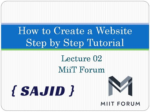 How To Create A Website Using HTML And CSS Step By Step Website Tutorial 2020 Lecture 2