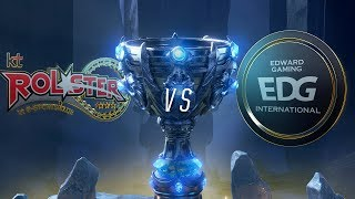 KT vs EDG | Worlds Group Stage Day 4 | KT Rolster vs Edward Gaming (2018)