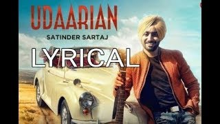 Udaarian Lyrical Vedio || Satinder Sartaaj || Jatinder Shah || Punjabi Song || Saga Music