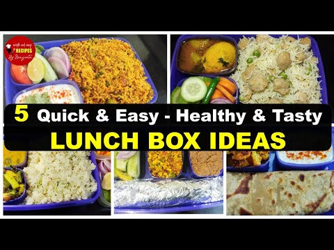 5 Quick & Healthy Lunchbox Ideas | Tiffin Box Ideas For Working Women / Husbands / Students