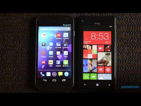 Windows Phone 8 vs. Android 4.1   Pocketnow
