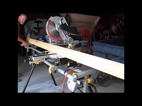 harbor freight miter saw. harbor freight slide compound miter saw - first use