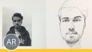 Portraits schnell zeichnen lernen. Einfache Technik für dein Schnellporträt. Porträt-Zeichenkurs