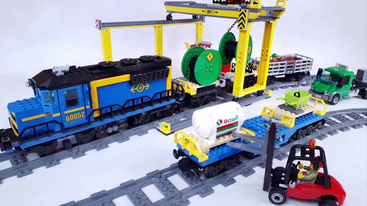 Lego City 60052 Cargo Train Pociąg Towarowy Speed Build Stop Motion