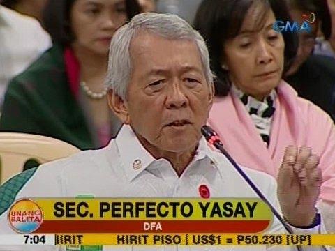 UB: DFA Sec. Yasay, bigong makalusot sa Commission on Appointments