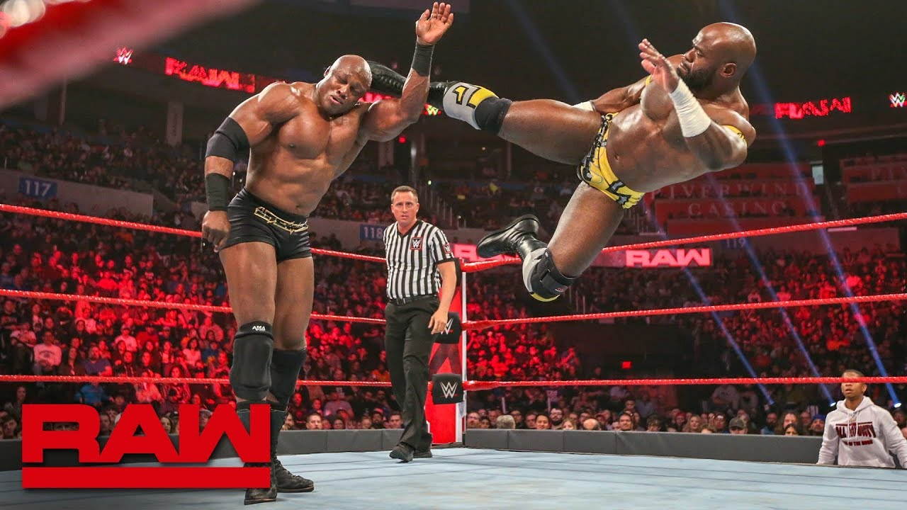 Apollo Crews Vs Bobby Lashley Raw Jan 21 2019 Youtube