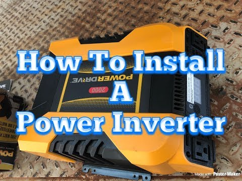 Inverter Install In A Semi, DIY Install, Step By Step Guide, How To