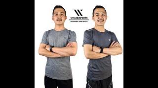 Baju Kaos Olahraga Gym Fitness Lari Running Sepeda Cowok Pria Dewasa Wyloz Sports