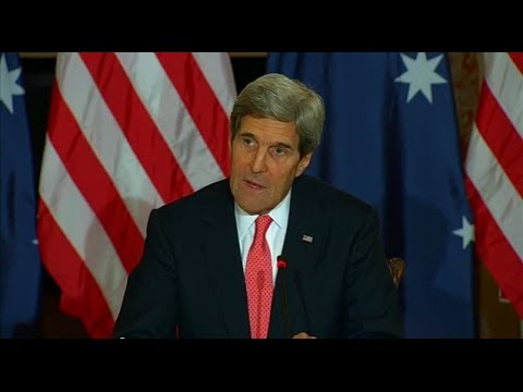 Secretary Kerry Participates in Signing of a Statement of Principles and Joint Press Availability