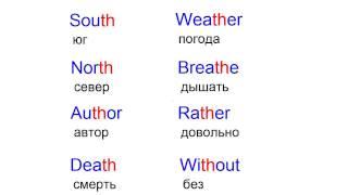 Звуки TH. Английский язык произношение.Произношение слов на английском языке.
