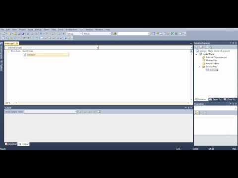 Microsoft Visual Studio C++ Tutorial 1 (Hello, World), HD