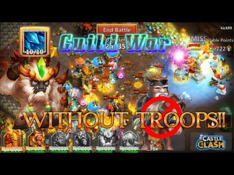 Sasquatch Guild War Without ANY TROOPS!! Castle Clash