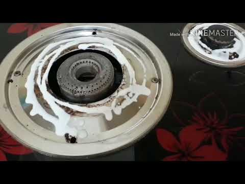 How I clean my stove#Clean with me#Pakistani vlogger