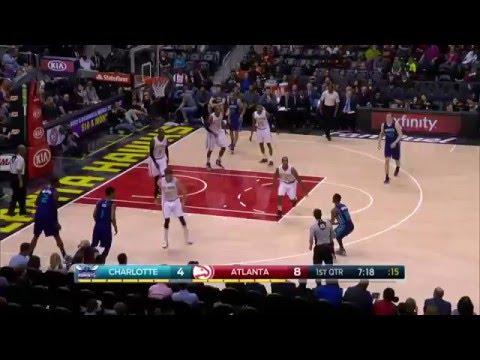 Charlotte Hornets vs Atlanta Hawks | February 28, 2016 | NBA 2015-16 Season