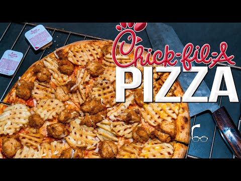 EASY QUARANTINE (LOCKDOWN) RECIPE! CHICK-FIL-A PIZZA | SAM THE COOKING GUY 4K