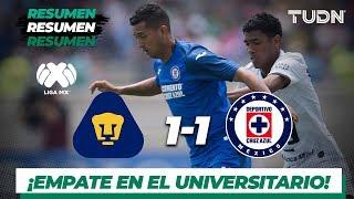 Resumen y Goles Pumas 1   1 Cruz Azul | Liga MX   Apertura 2019   Jornada 10 | TUDN