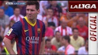 Lesión fibrilar en el bíceps femoral de Messi, le sustituye Xavi