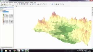 TIN ,Raster Veri Üretimi ve Eğim ,Bakı,Kabartma ,Görünürlük Analizi- Profil Çıkarma -3D Görüntüleme