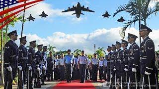 【お偉いさんがいっぱい】アジア太平洋諸国の空軍参謀総長たちが集まる会議の歓迎式