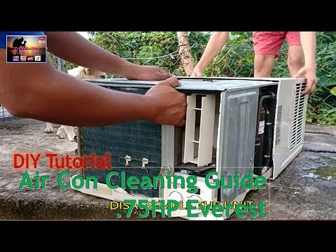 Air Con CLEANING GUIDE - Everest .75 hp/ English/ DIY Tutorial