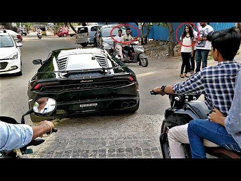 RSM Lamborghini Huracan w/ Fiexhaust Reactions in HYDERABAD!!(INDIA)