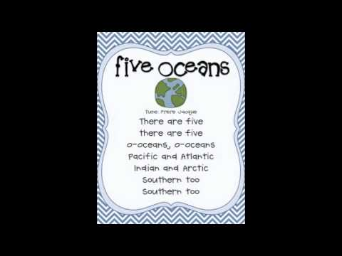 Five Oceans Song YouTube - Name the four oceans of the world
