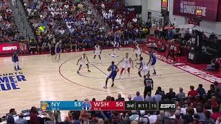 RJ Barrett Full Highlights Knicks vs Wizards 2019 07 13 Summer League   21 Pts, 10 Ast, 8 Reb!