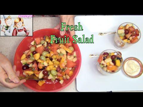 Fresh Fruit salad cheekyricho Video Recipe episode 1,087