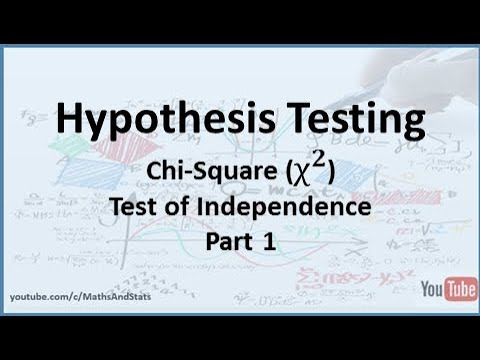 Hypothesis Testing By Hand: A Chi-Square Test Of Independence - Part 1