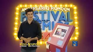 Festival de Prêmios Rondon - Cadastre seu cupom